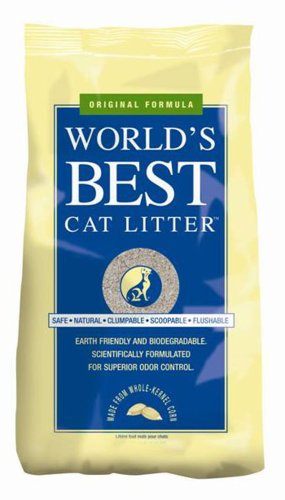 World's Best 00558 Cat Litter, Clumping Formula, 34 Pounds (Packaging Varies)