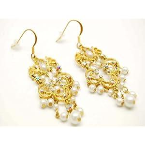 White Gold Amethyst Diamond Chandelier Earrings - ShopWiki