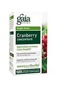 Gaia Herbs Cranberry Concentrate, 60 Liquid Phyto-Capsules
