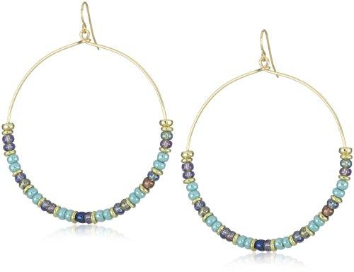 Vanessa Mooney Kiss Kiss Turquoise Hoop Earrings