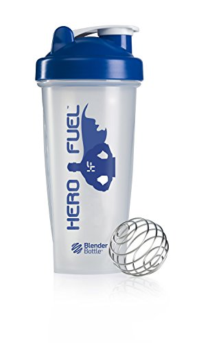 Hero Fuel Blender Bottle | Bpa Free Plastic Cup - 28Oz | Blender Ball Surgical Grade Stainless Steel | Portable Shaker Bottle | Gym | Sports | Bodybuilding | Yoga | Powdered Protein Shakes | Smoothie Mixer | Men & Women | High Quality Materials | No-Hassl