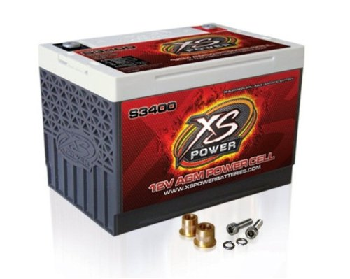XS Power S3400 'S Series' 12V 3,300 Amp AGM Automotive Starting Battery with Terminal