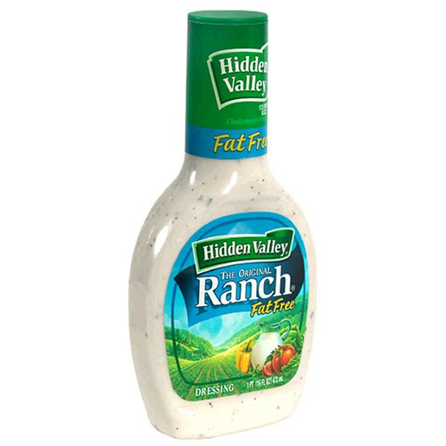 Hidden Valley Ranch Dressing, Fat-Free Original, 16-Ounce Bottles (Pack of 6)