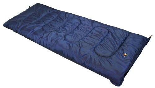 Ledge Sports Ridge +30 Classic Rectangular Sleeping Bag With Stuff Sack (75 X 30, Blue) front-295773