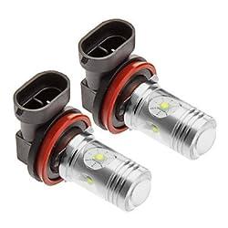 See H11 25W Cree 1400LM 5500-6500K Cool White Light LED Bulb for Car (12V-24V,2pcs) Details