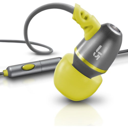 Jbuds M Earbuds Metal Headphone With Mic, Gray/Yellow