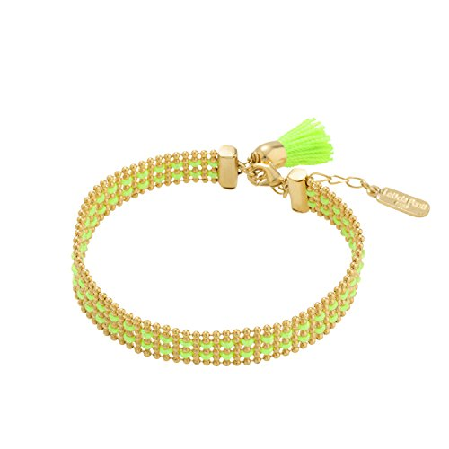 hippy-chic-bracelet-fluor-green-gold-plated-by-leticia-ponti