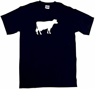Cow Silhouette Little Boy's Kids Tee Shirt
