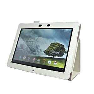 IVSO® Slim-Book Etui Housse en Cuir avec Support pour ASUS Memo Pad Smart ME301T 10.1-Inch Tablette (Blanc)