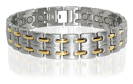 Stainless Steel Mens Power Golf Magnetic Bracelet 8.5 ""