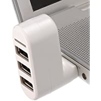 Shrih White 3 Port USB Hub And Card Reader Combo