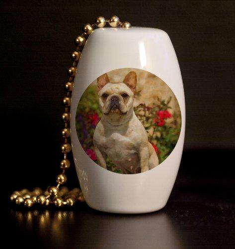 French Bulldog Porcelain Fan / Light Pull