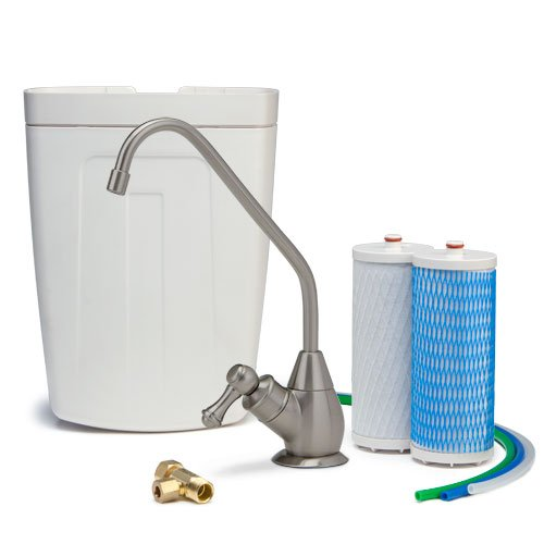 Aquasana AQ-4501.55 Premium Under Counter Water Filter System, Brushed Nickel