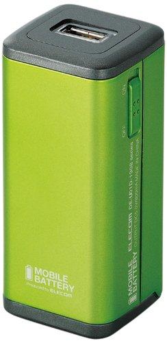 ELECOM モバイルバッテリー 乾電池 スマートフォン用 グリーン DE-U01D-1908GN