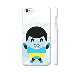 Colorpur Blue Yellow Grumpy Angry Kid Artwork On Apple iPhone SE Cover (Designer Mobile Back Case) | Artist: Designer Chennai