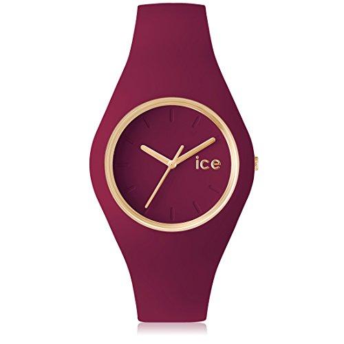 Ice Watch Glam Forest Anemone Orologio da Polso, Quadrante Analogico da Donna, Cinturino in Silicone, Rosso Scuro