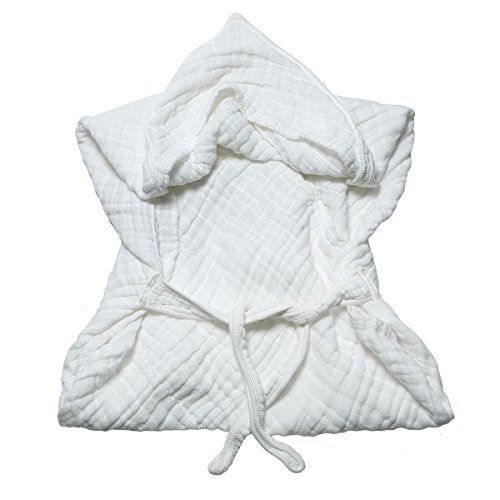 Cotton White Baby Bath Towels with Hood