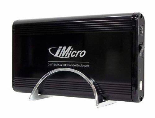 iMicro IMBS35G-BK 3.5 inch USB2.0-SATA&IDE External Drive Enclosure (Black)
