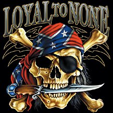 Loyal To None Motorcycle T-shirt, Rebel Chopper T-shirts, Biker T-shirts, XX-Large, Black