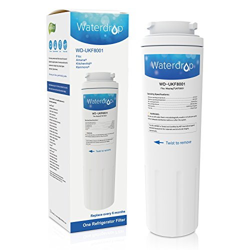 Waterdrop Refrigerator Water Filter Replacement for Maytag UKF8001, UKF8001AXX, UKF8001P, EDR4RXD1, Whirlpool 4396395, Puriclean II, Kenmore 9006, 46-9006, Everydrop filter 4, Viking RWFFR, 1 Pack (Refrigerator 4 Filter Pur compare prices)