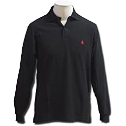 Prancing Horse long sleeve polo - Black (XL)