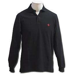 Prancing Horse long sleeve polo - Black (XL)