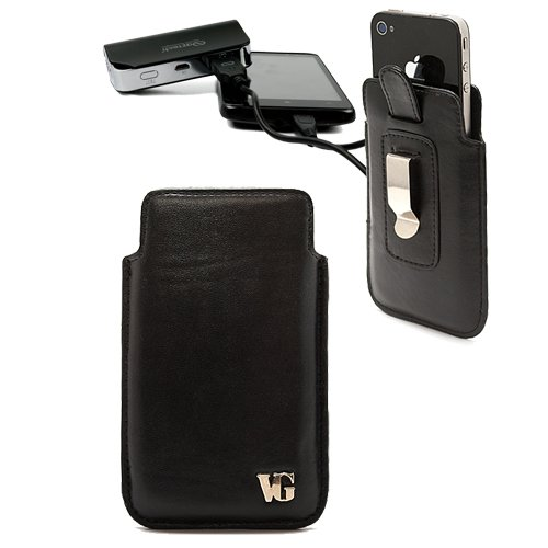 VanGoddy Cell Phone Accessories Presents the Beautiful Slidyn Phone Holster for the Motorola Triumph + Motorola Triumph Compatible Emergency Power Bank