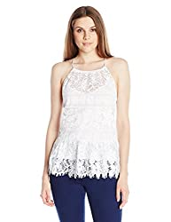 Tracy Reese Women's Halter Top, White, Small