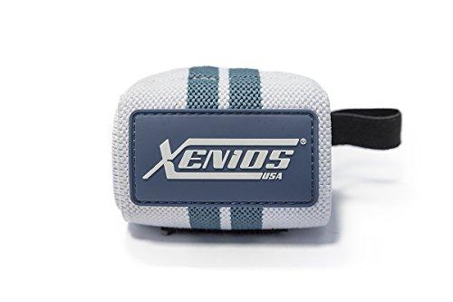 Xenios USA PSWRST04 Polsiera, Bianco/Blu, Taglia Unica