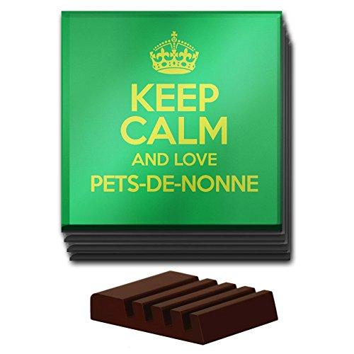 Lot de 4Vert Keep Calm and Love Pets-de-Nonne Dessous de Verre en verre couleur 2795