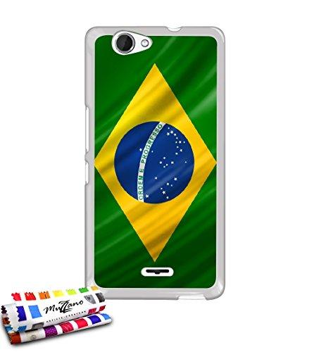 genuine-extra-slim-case-bandera-de-brasil-por-muzzano-para-wiko-getaway-compatible-con-wiko-getaway-