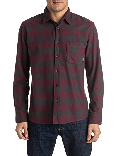 Quiksilver Flannel, Camicia Uomo, Rosso (Motherfly Tarmac Kta1), Small