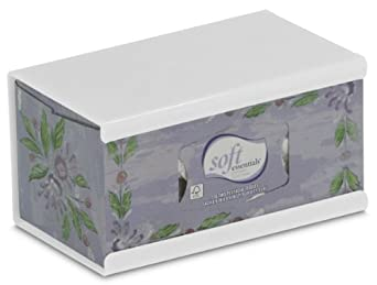 "TrippNT 50897 High-Impact Polystyrene (HIPS) Wall-Mountable Kleenex Box Holder with Tape for 200 Count Box, 10"" Width x 5"" Height x 5"" Depth, Large"