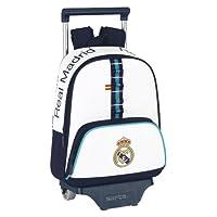 Real Madrid C.F. - Mochila infantil con ruedas, 28 x 34 x 10 cm (Safta 611356020)