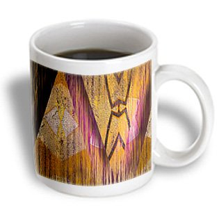 Jos Fauxtographee Abstract - Triangular Shapes Cut Out In Gold And Pink With Lines Through It Looking Native - 15Oz Mug (Mug_55869_2)