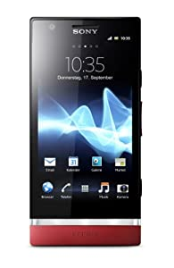 Sony Xperia P Smartphone (10,2 cm (4 Zoll) Touchscreen, 8 Megapixel Kamera, Android 4.0 OS) rot