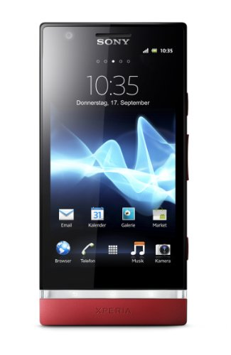 Sony Xperia P Smartphone (10,2 cm (4 Zoll) Touchscreen, 8 Megapixel Kamera, Android 2.3 OS) rot