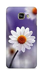 Amez designer printed 3d premium high quality back case cover for Samsung Galaxy A3 (2016 EDITION) (daisy white flower floral)