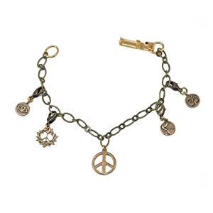 Charm Bracelet with all Charms Peace Bronze