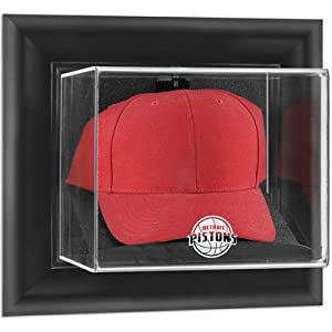 NBA Wall Mounted Cap Display Case Frame Finish: Black, NBA Team: New Jersey Nets by Mounted Memories
