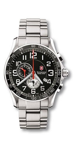 Victorinox Swiss Army Men&#8217;s 241280 Classic XLS Alarm Chronograph Black Dial Watch