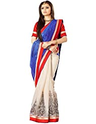 Floral Silk Saree Collections-Blue-RKVS29006-VS-Art Silk
