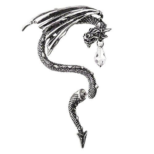 Alchemy Gothic Cristallo Drago Orecchio Avvolgere