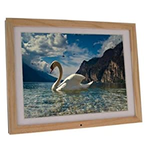 15 inch Light Wood Digital Photo Frame