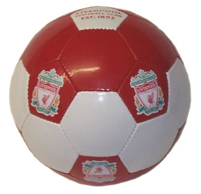 OFFICIAL LIVERPOOL FC RED & WHITE CRESTED SIZE 5 FOOTBALL