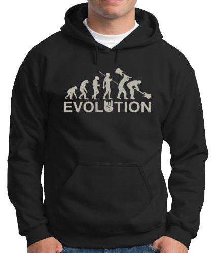 Evolution Heavy Metal Rock-Felpa con cappuccio varie taglie. Color Black/Silver S
