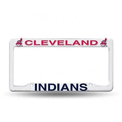 MLB Cleveland Indians Plastic License Plate Frame - White