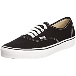 Vans Authentic Sneaker unisex adulto - Nero (black/white), 37