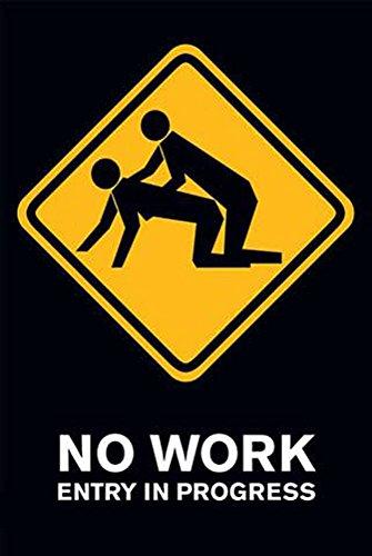 Fun - No Work - Akt Poster Erotik Poster Fotos Modelle nackte hot Girls schöne Frauen - Grösse 61x91,5 cm