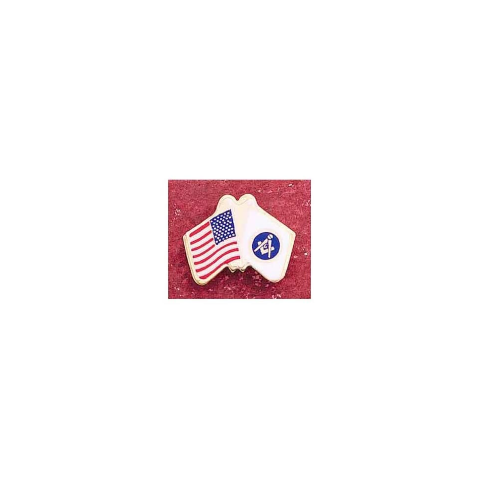 NEW GIFTUS U.S. USA U.S.A FLAG MASONIC LAPEL PIN MASON MASONIC LAPEL PIN TIE TACK,NEW, Masonic Logo Mason, Freemason Freemasons Free Mason Masons Masonic Masonry Freemasonry Past Masters Emblem Shriner,york Scottish Rite, ,Grotto,movper, Craft Lodge Ent